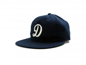 Delicious by Ebetts Field Flannels [ D Felt Cap ] NAVY