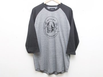 BRIXTON [ TEMPUS 3/4 SLEEVE TEE ] HEATHER GREY x WASHED BLACK