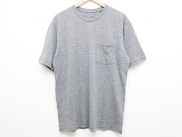 BRIXTON [ BASIC S/S POCKET TEE ] HEATHER GREY