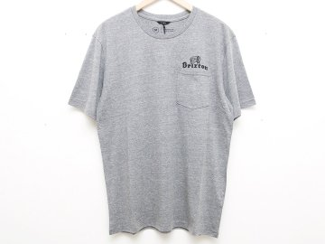 BRIXTON [ TANKA II S/S POCKET TEE ] HEATHER GRAY