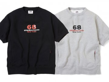 68&BROTHERS [ S/S Reverse Weave Sweat