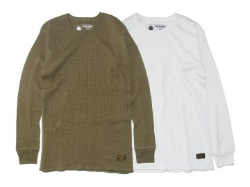 SKITLABEL [ 2PAC L/S Thermal Shirts ] OLIVE・WHITE