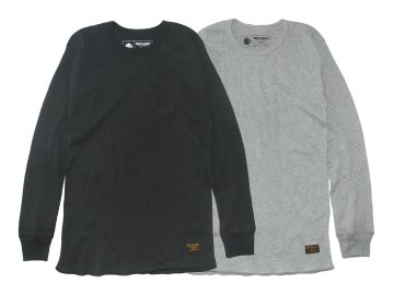 SKITLABEL [ 2PAC L/S Thermal Shirts ] VINTAGED BLACK・GRAY