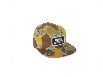 Good Worth & Co. [ Logo 5 Panel Snapback Cap ] CAMO