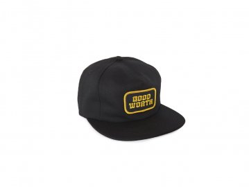 Good Worth & Co. [ Logo 5 Panel Snapback Cap ] BLACK