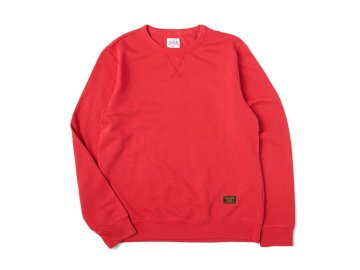SKITLABEL [ PIGMENT CREW SWEAT ] VINTAGED RED