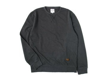 SKITLABEL [ PIGMENT CREW SWEAT ] VINTAGED BLACK