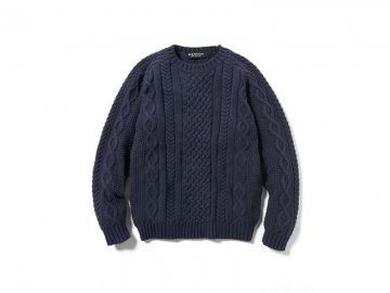 68&BROTHERS [ Cotton Cable Knit Crew ]