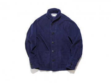 3 Days Union by WORKWARE [ SHAWL COLLAR CORD JACKET ] NAVY