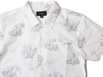 BRIXTON [ BUELLER S/S Woven Shirt ] OFF WHITE