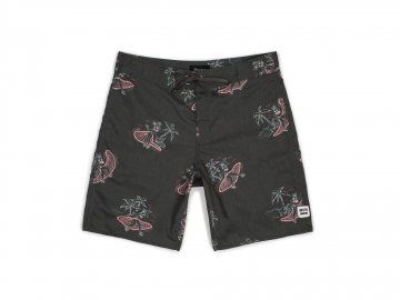BRIXTON [ BARGE Trunk ] WASHED BLACK x PINK