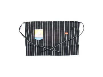 COOKMAN [ Waist Apron ] BLACK STRIPE