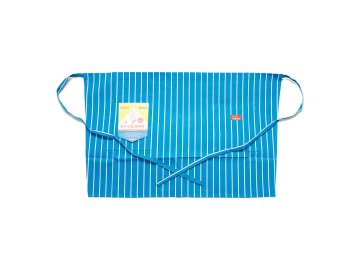 COOKMAN [ Waist Apron ] L.BLUE STRIPE