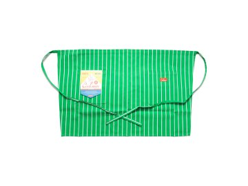 COOKMAN [ Waist Apron ] GREEN STRIPE
