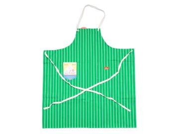 COOKMAN [ Long Apron ] GREEN STRIPE