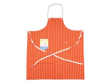 COOKMAN [ Long Apron ] ORANGE STRIPE
