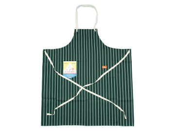COOKMAN [ Long Apron ] D.GREEN STRIPE