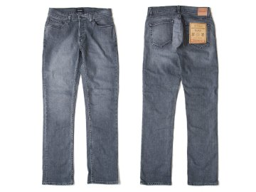 BRIXTON [ RESERVE 5-POCKET DENIM PANT ] WORN BLACK