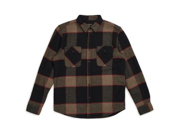 BRIXTON [ Bowery L/S Flannel ] H.GRAY x CHARCOAL