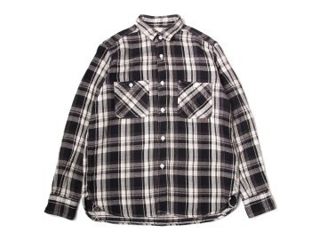 F.O.B FACTORY [ HEAVY FLANNEL WORK SHIRT ] BLACK