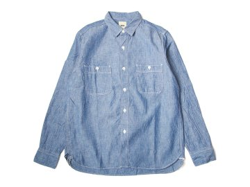 F.O.B FACTORY [ CHAMBRAY WORK SHIRT ] INDIGO