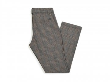 BRIXTON [ RESERVE CHINO PANT ] GRAY PLAID