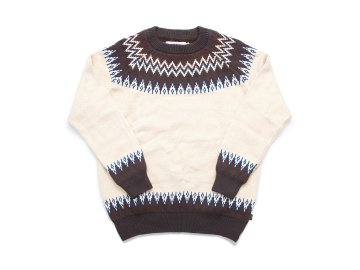 INTERFACE [ SNOW PATTERN KNIT SWEATER ] NATURAL