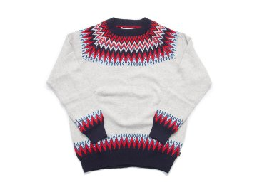 INTERFACE [ SNOW PATTERN KNIT SWEATER ] GRAY