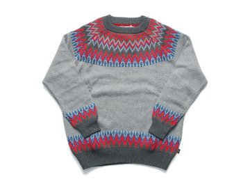 INTERFACE [ SNOW PATTERN KNIT SWEATER ] CHARCOAL