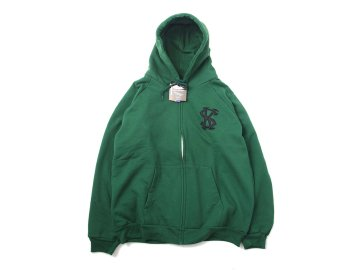 SKITLABEL [ THERMAL ZIP CAMBER HOOD ] DARK GREEN