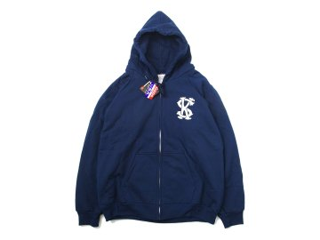 SKITLABEL [ THERMAL ZIP CAMBER HOOD ] NAVY