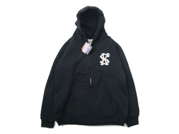 SKITLABEL [ THERMAL ZIP CAMBER HOOD ] BLACK
