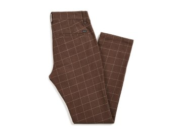 BRIXTON [ RESERVE CHINO PANT ] BROWN PLAID