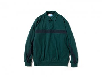 68&BROTHERS [ One Button Polo Knit ] FOREST