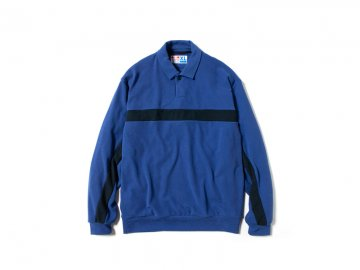 68&BROTHERS [ One Button Polo Knit ] ROYAL