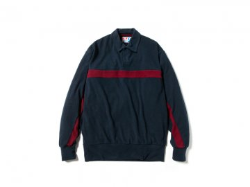 68&BROTHERS [ One Button Polo Knit ] NAVY