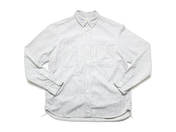 F.O.B FACTORY [ HICKORY WORK SHIRT ] WHITE