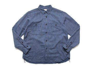 F.O.B FACTORY [ HICKORY WORK SHIRT ] NAVY