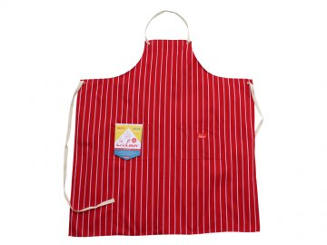 COOKMAN [ Long Apron ] RED STRIPE