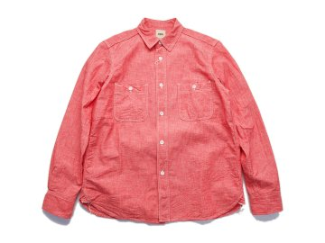 F.O.B FACTORY [ CHAMBRAY WORK SHIRT ] RED