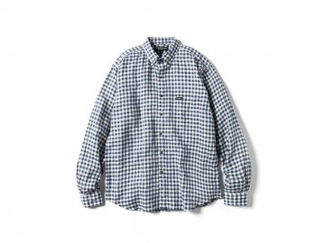 68&BROTHERS [ L/S Linen Gingham B.D Shirts ] NAVY