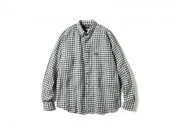 68&BROTHERS [ L/S Linen Gingham B.D Shirts ] BLACK
