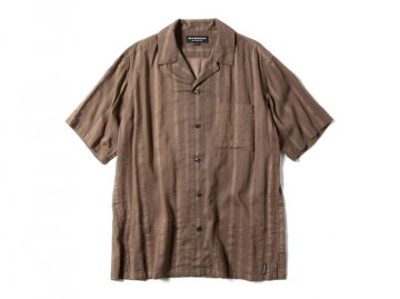 68&BROTHERS [ S/S Open collar Shirts ] BROWN