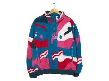 by Parra [ Sherpa Fleece Pullover Flag Mountain Racer  ]