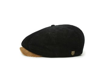 BRIXTON [ BROOD CORDUROY SNAP CAP ] BISON/BLACK