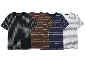 68&BROTHERS [ Linen Stripe Tee ] 4 COLORS