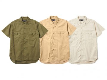 68&BROTHERS [ S/S Military Shirts ] 3 COLORS