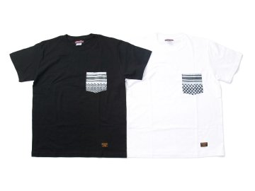 SKITLABEL [ SHEMAGH POCKET Tee ] BLACK POCKET