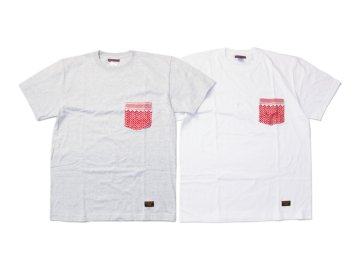 SKITLABEL [ SHEMAGH POCKET Tee ] RED POCKET