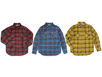 FIVE BROTHER [ HEAVY NEL WORK SHIRT ] 3 COLORS